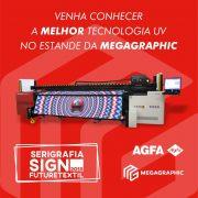 Impressoras uv agfa na Feira Serirgafia Sign 2018