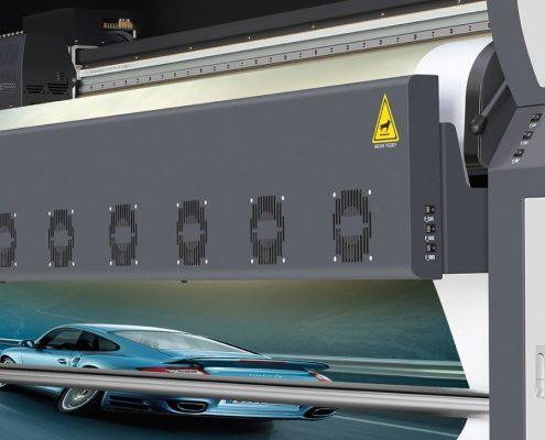 Plotter de impressão digital solvente potenza_ ventiladores frontais